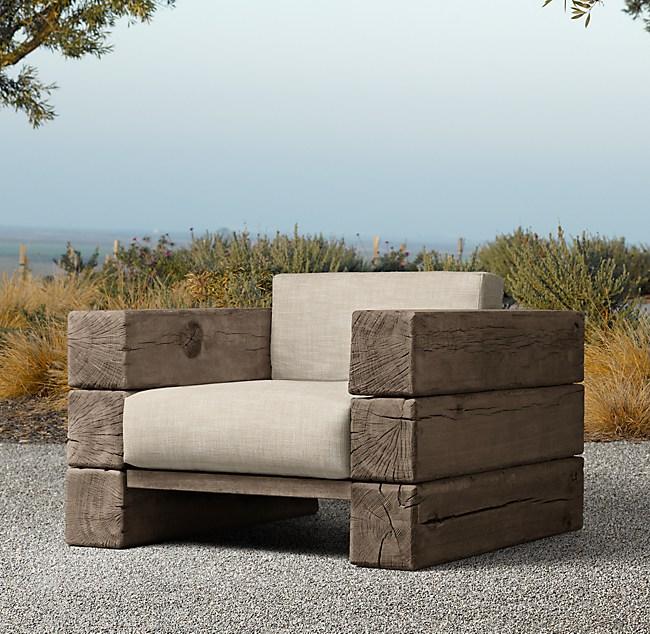 Aspen Lounge Chair, Restoration Hardware Look Alike Outdoor Furniture