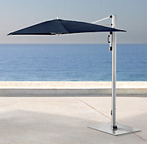 Tuuci® Classic Single Cantilever Polished Titanium Umbrella