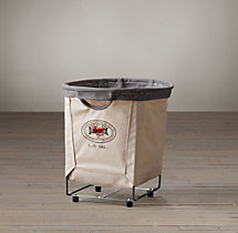 Laundry Cart Round Natural Small
