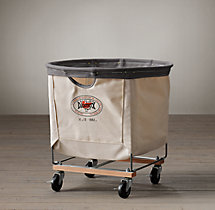 Laundry Cart Round Natural Medium