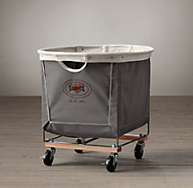 Laundry Cart Round Grey Medium