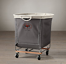 Laundry Cart Round Grey Large