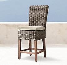Provence High Back Armless Bar & Counter Stool Cushion