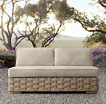 Rutherford Two-Seat Armless Sofa
