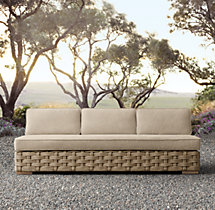 Rutherford Three-Seat Armless Sofa