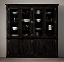 St. James Glass 4-Door Sideboard & Hutch