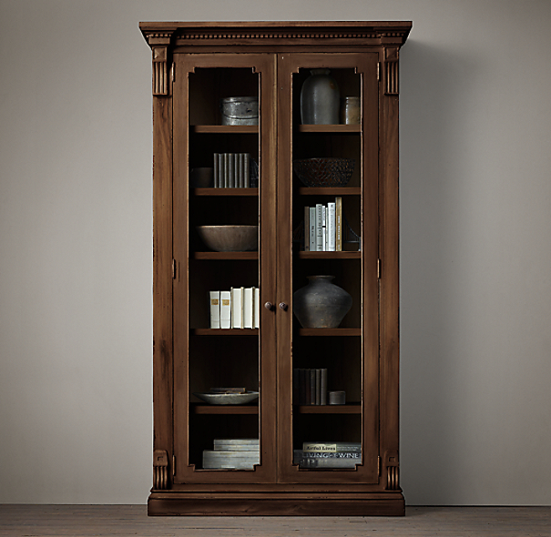 St james glass double door cabinet - Restoration hardware cabinets ...