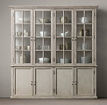 Hampton Casement 4-Door Panel Sideboard & Glass Hutch