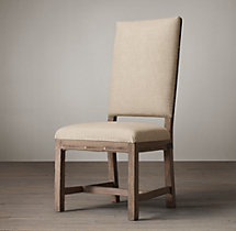 Deconstructed Georgian English Fabric Side Chair
