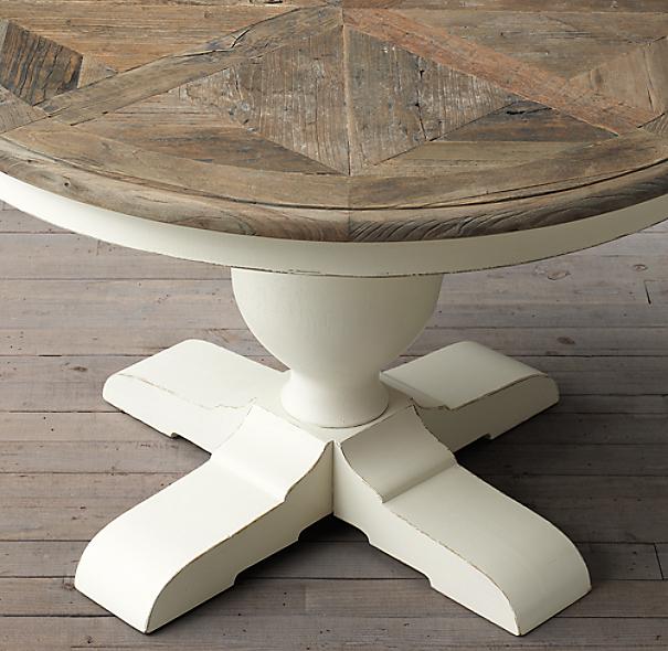 Baroque parquet round dining table for Mesa comedor redonda blanca