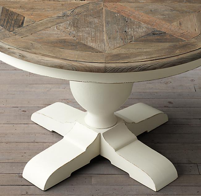 Baroque Parquet Round Dining Table