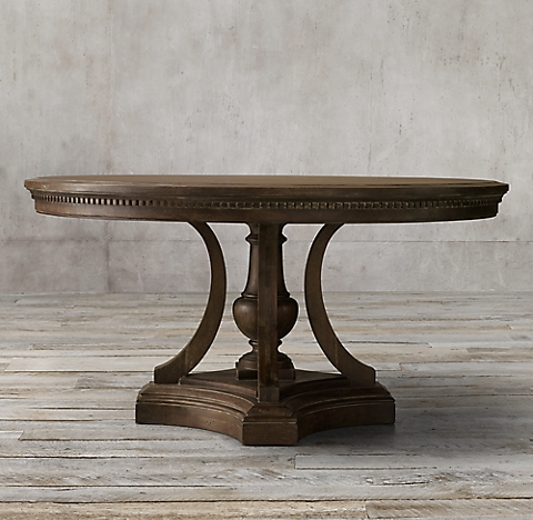 all round & oval tables | rh