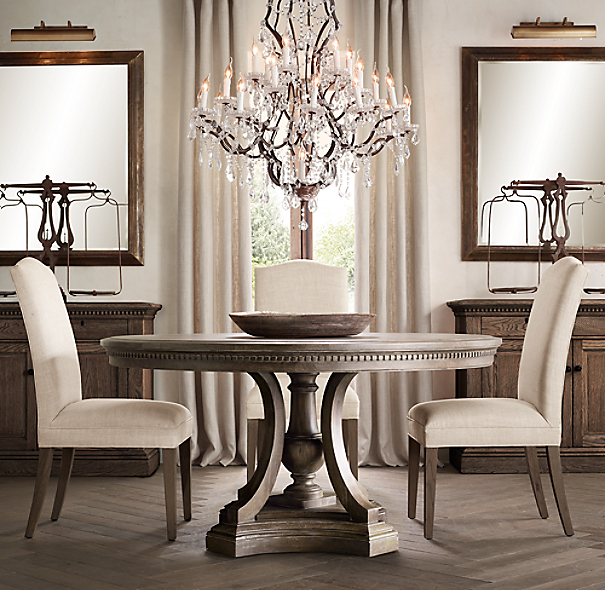 Circular Dining Room Table: St. James Round Dining Table