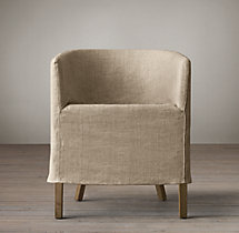 Replacement Slipcover for Barrelback Short Skirt Slipcovered Armchair