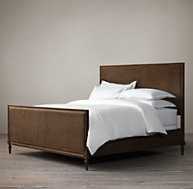 Maison Caned Panel Bed With Footboard