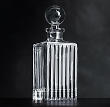 Boulevard Cut Crystal Square Decanter