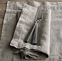 Stonewashed Belgian Linen Dinner Napkins (Set of 4)