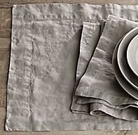 Stonewashed Belgian Linen Placemats (Set of 4)