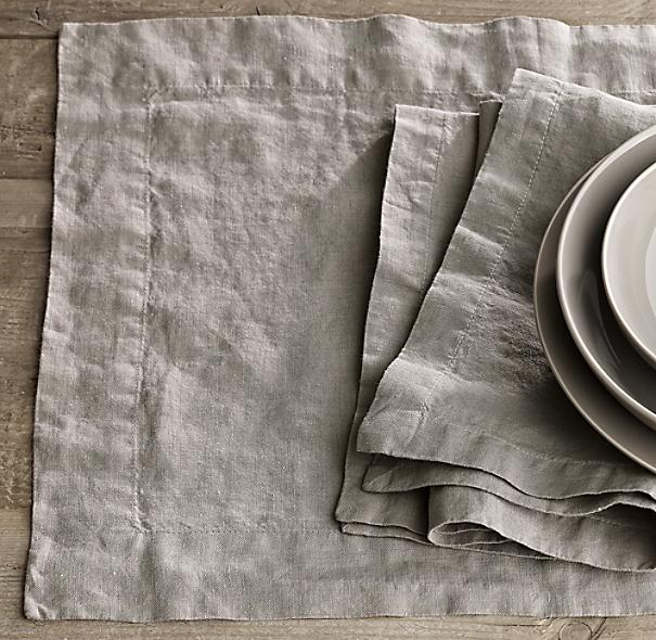 Stonewashed Belgian Linen Placemats (Set Of 4