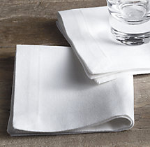 Hotel Table Linen Cocktail Napkins (Set of 12)
