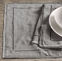 Frayed Edge Belgian Linen Placemats (Set of 4)