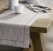 Frayed Edge Belgian Linen Runner
