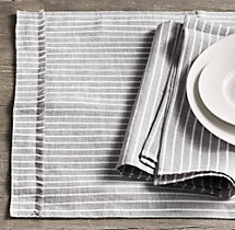 European Stripe Linen Placemats (Set of 4)