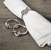 Hand Forged Knot Napkin Rings Set Of 4