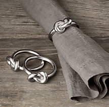 Hand-Forged Knot Napkin Rings (Set of 4)