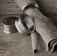 Vintage Oval Napkin Rings (Set of 4)