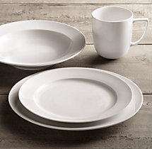Chinese Porcelain Grand-Rimmed 16-Piece Dinnerware Set with Soup Bowl