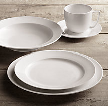 Chinese Porcelain Grand-Rimmed 20-Piece Dinnerware Set with Soup Bowl