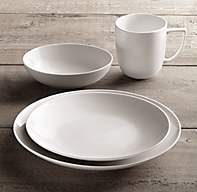Chinese Porcelain Classic Coupe 16 Piece Dinnerware Set