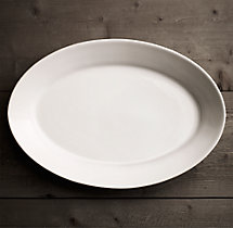 Stoneware Grand-Rimmed Extra-Large Oval Platter