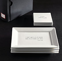 Literary Quote Cocktail Plates, Oscar Wilde