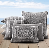 Perennials 174 Corsica Outdoor Pillow Cover Graphite