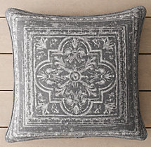 Perennials® Corsica Tile Outdoor Pillow Cover - Graphite