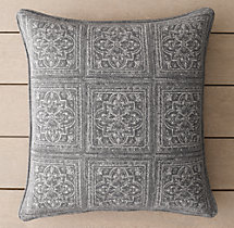 Perennials® Corsica Multi Tile Outdoor Pillow Cover - Graphite