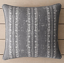Perennials® Corsica Stripe Outdoor Pillow Cover - Graphite