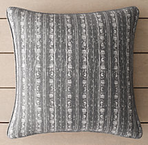 Perennials® Corsica Multi Stripe Outdoor Pillow Cover - Graphite