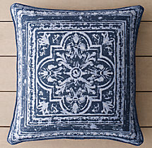 Perennials® Corsica Tile Outdoor Pillow Cover - Royal Blue