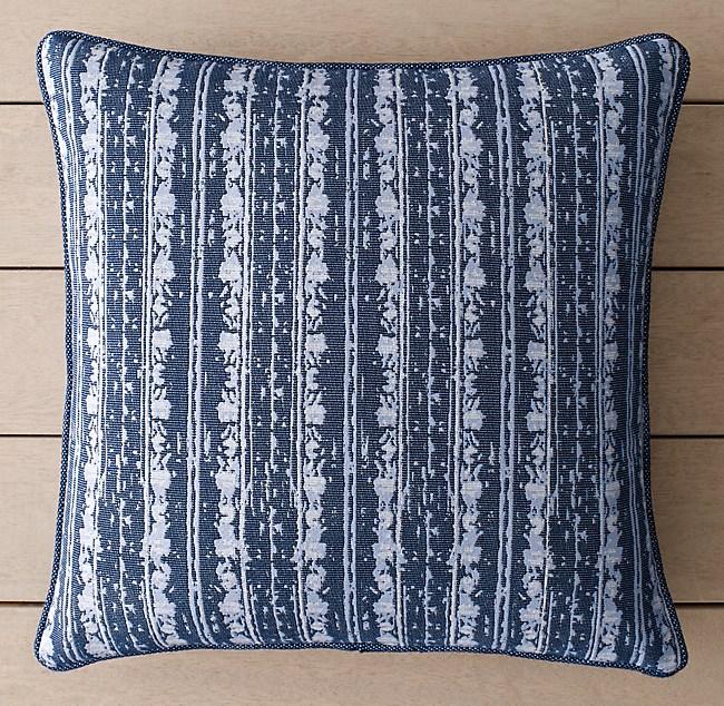 Perennials Corsica Multi Stripe Outdoor Pillow Cover Royal Blue