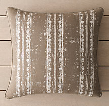 Perennials® Corsica Stripe Outdoor Pillow Cover - Mocha