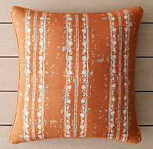Perennials® Corsica Stripe Outdoor Pillow Cover - Clementine