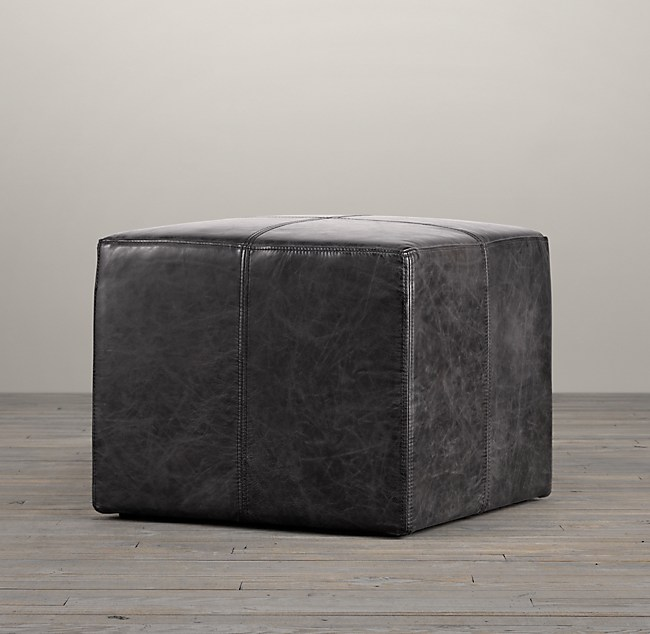 Magnificent Cooper Leather Square Ottoman Squirreltailoven Fun Painted Chair Ideas Images Squirreltailovenorg