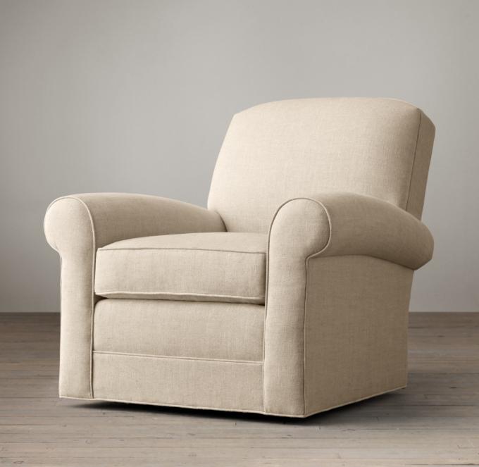 Lowell Club Swivel Chair