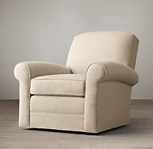 Lowell Upholstered Club Swivel Chair