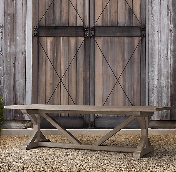 belgian trestle teak rectangular dining table. Black Bedroom Furniture Sets. Home Design Ideas