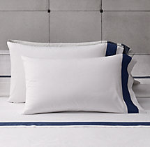 Italian Banded Sateen Pillowcases (Set of 2)