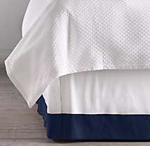 Italian Banded Sateen Bed Skirt